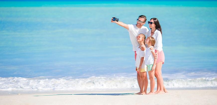familias playa