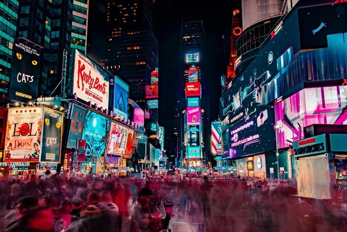 4New York noche Times Square