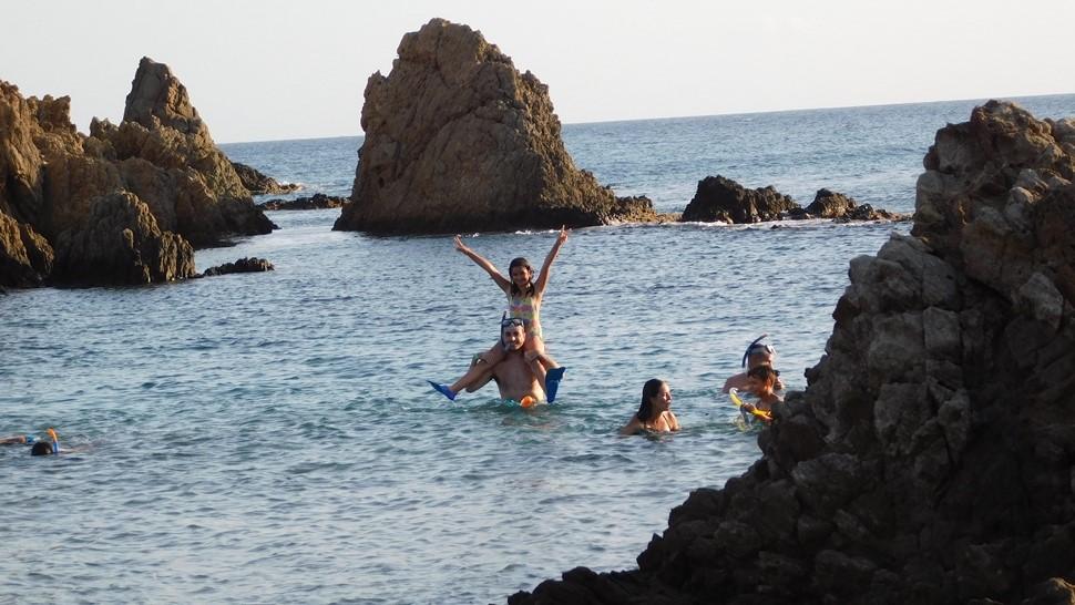 Inmaculada P. Aventura en Cabo de Gata Verano 2017 Snorkel en Cabo de Gata