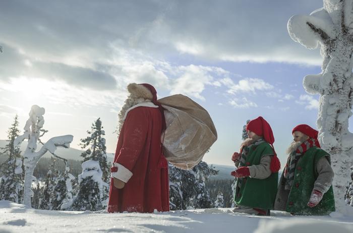 Santa claus elfos
