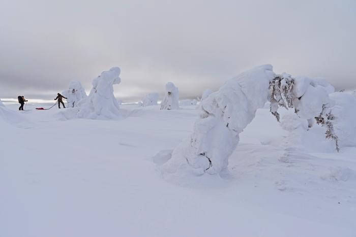 mucha nieve laponia familias