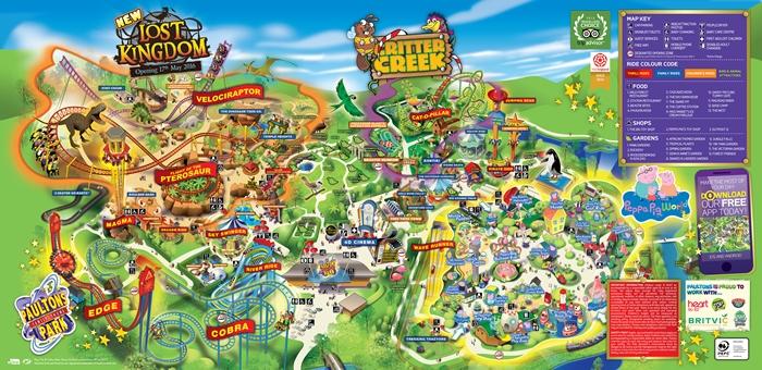 mapa de paultons park