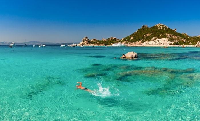 nadando sardinia