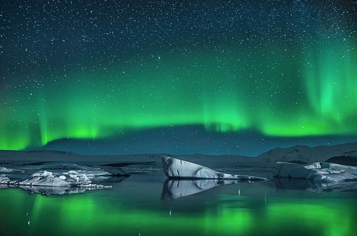 turismo en islandia luces magicas navidad